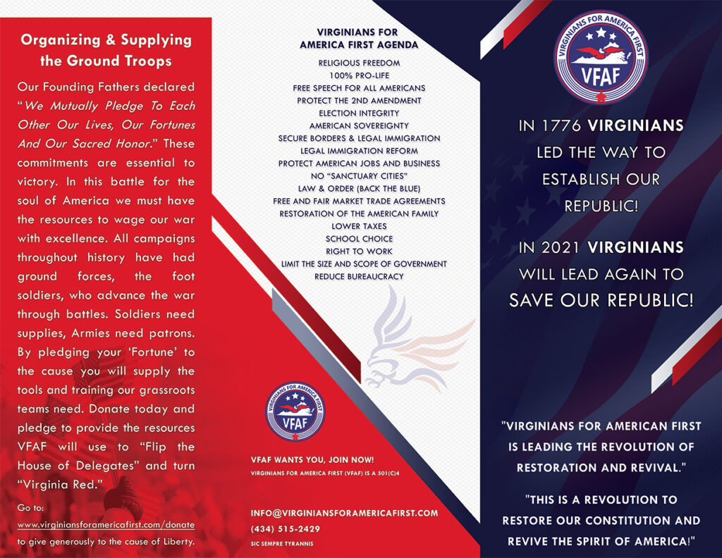 Virginians For America First Brochure